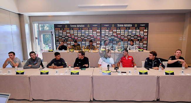 Top riders press conference on the eve of the race of the two seas, 52nd Tirreno-Adriatico by NamedSport running from the 8th to 14th March, Italy. 7th March 2017.<br /> Picture: La Presse/Gian Mattia D'Alberto | Cyclefile<br /> <br /> <br /> All photos usage must carry mandatory copyright credit (&copy; Cyclefile | La Presse)
