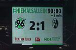 10.02.2018, HDI Arena, Hannover, GER, 1.FBL, Hannover 96 vs SC Freiburg<br /> <br /> im Bild<br /> Anzeigetafel / Endstand, Feature<br /> <br /> Foto &copy; nordphoto / Ewert