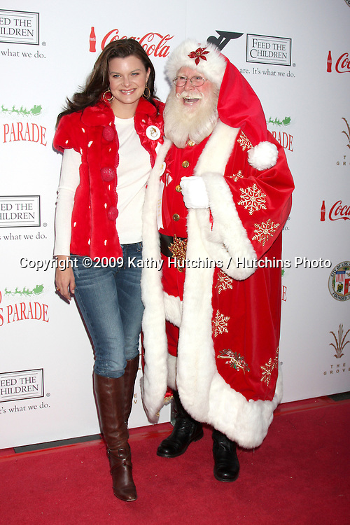 Heather Tom & Santa Claus Tom Connaghan.arriving at the 2009 Hollywood Christmas Parade .Hollywood Roosevelt Hotel.Los Angeles,  CA.November 29, 2009.©2009 Kathy Hutchins / Hutchins Photo.