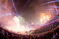 PYEONGCHANG,SOUTH KOREA,09.FEB.18 - OLYMPICS - Olympic Winter Games PyeongChang 2018, official opening ceremony. Image shows a general view of stadium and a fireworks. Photo: GEPA pictures/ Matic Klansek / Copyright : Explorer-media