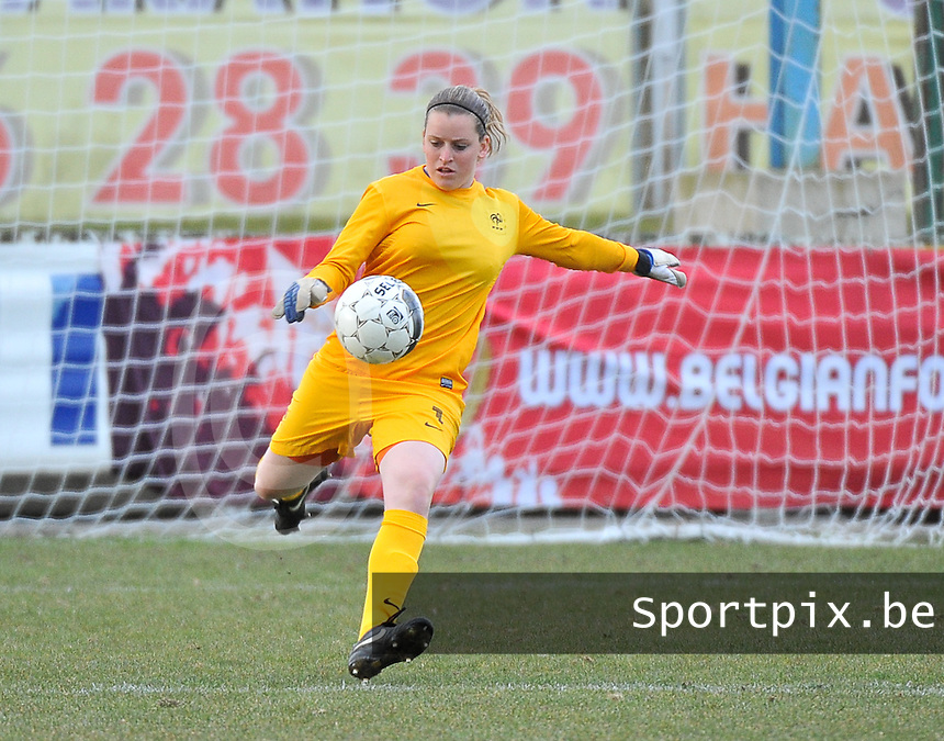 Switzerland U19 - France U19 : Solène Durand (GK).foto DAVID CATRY / Nikonpro.be