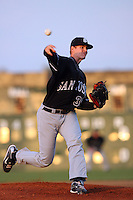 April 28 2009: Tim Alderson of the San Jose Giants pitches against the Lancaster JetHawks at Clear Channel Stadium in Lancaster,CA.  Photo by Larry Goren/Four Seam Images