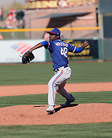 Rafael Montero - Texas Rangers 2020 spring training (Bill Mitchell)