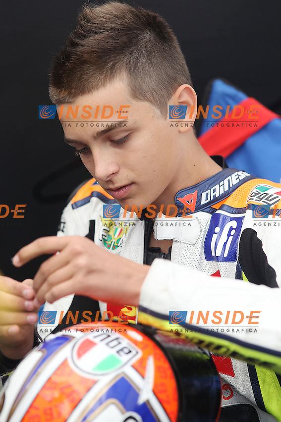 13-09-2013 Misano (ITA)<br /> Motogp world championship Motomondiale<br /> in the picture: Luca Marini - FMI Twelve Moto3 team fratello di Valentino Rossi <br /> Foto Semedia Insidefoto