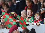 Young Kilmurry Ibrickane fans look on during their senior county final against Clondegad at Cusack park. Photograph by John Kelly.