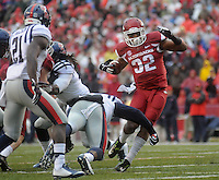 NWA Media/Michael Woods --11/22/2014-- w @NWAMICHAELW...University of Arkansas runningback Jonathan Williams runs the ball for a gain in the 1st quarter of Arkansas 30-0 win over Ole Miss during Saturdays game at Razorback Stadium.