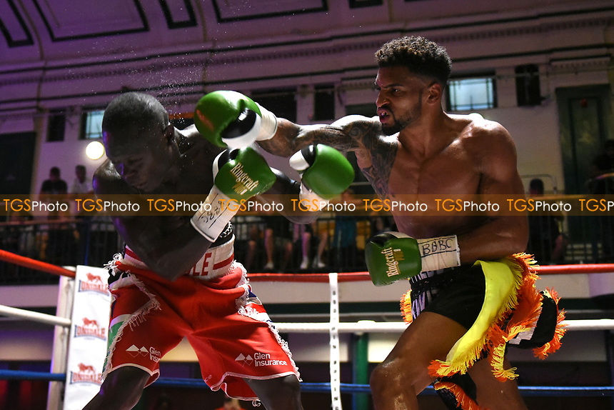 Freddie Kiwitt defeats Erick Ochieng during a Boxing Show at York Hall on 9th July 2017