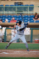 Hudson Valley Renegades Nick Sogard (7) at bat during a NY-Penn League game against the Mahoning Valley Scrappers on July 15, 2019 at Eastwood Field in Niles, Ohio.  Mahoning Valley defeated Hudson Valley 6-5.  (Mike Janes/Four Seam Images)