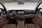 Stock photo of straight dashboard view of 2017 Mercedes Benz E-Class All-Terrain 5 Door Wagon Dashboard