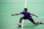 Sameer Verma of India competes against Jan O Jorgensen of Denmark during their Men's Singles Semi-Final of YONEX-SUNRISE Hong Kong Open Badminton Championships 2016 at the Hong Kong Coliseum on 26 November 2016 in Hong Kong, China. Photo by Marcio Rodrigo Machado / Power Sport Images