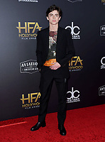 04 November 2018 - Beverly Hills, California - Timothee Chalamet . 22nd Annual Hollywood Film Awards held at Beverly Hilton Hotel. <br /> CAP/ADM/BT<br /> &copy;BT/ADM/Capital Pictures