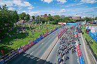 Picture by Allan McKenzie/SWpix.com - 16/07/17 - Cycling - HSBC UK British Cycling Grand Prix Series - Velo29 Altura Stockton Grand Prix - Stockton, England - A general view of the peloton riding through Stockton.
