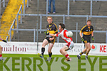 Colm Cooper  Dr Crokes releases a slide rule pass confusing Paul Murphy Rathmore  during their Club Championship semi final on Sunday
