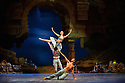 London, UK. 12.01.2016. English National Ballet present Le Corsaire, at the London Coliseum. Picture shows: Laurretta Summerscales (Medora), Cesar Corrales (Birbanto), Junor Souza Ali - front). Photograph © Jane Hobson.