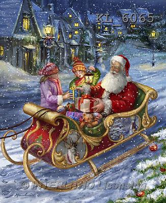 Interlitho, CHRISTMAS SANTA, SNOWMAN, WEIHNACHTSMÄNNER, SCHNEEMÄNNER, PAPÁ NOEL, MUÑECOS DE NIEVE, paintings+++++,santa,sleigh,2 kids,KL6065,#X# ,Marcello