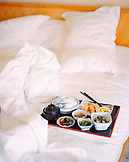 SINGAPORE, Ritz Calton, Japanese breakfast served in bed
