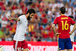 Georgia's Okriashivil and Spain's Juanfran Torresi during the up match between Spain and Georgia before the Uefa Euro 2016.  Jun 07,2016. (ALTERPHOTOS/Rodrigo Jimenez)