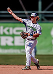 3 September 2018: Vermont Lake Monsters infielder Jeremy Eierman in action against the Tri-City ValleyCats at Centennial Field in Burlington, Vermont. The Lake Monsters defeated the ValleyCats 9-6 in the last game of the 2018 NY Penn League regular season. Mandatory Credit: Ed Wolfstein Photo *** RAW (NEF) Image File Available ***