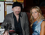 WEST HOLLYWOOD, CA. - February 08: Musician The Edge and Musician Sheryl Crow attend the Universal Music Group Chairman Doug Morris' Grammy Awards Viewing Dinner at The Palm on February 8, 2009 in West Hollywood, California.