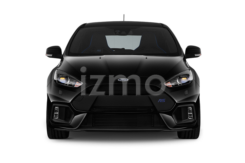 Car photography straight front view of a 2017 Ford Focus RS Limited 5 Door Hatchback