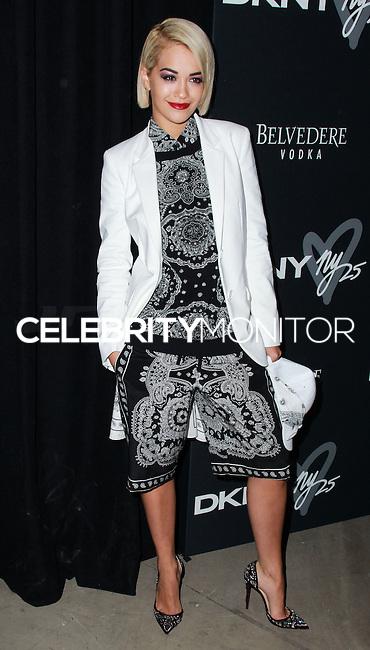 NEW YORK, NY - SEPTEMBER 09: Singer Rita Ora arrives at the #DKNY25 Birthday Bash held at 23 Wall Street on September 9, 2013 in New York City. (Photo by Jeffery Duran/Celebrity Monitor)