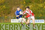 Sean Moloney Tralee CBS  and Padraig Ó Conchuir PS Chorcha Dhuibhne in action in the Corn Uí Mhuirí semi final in Killarney on Sunday