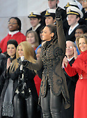 "Washington, DC - January 18, 2009 -- Beyonce performs at the ""Today: We are One - The Obama Inaugural Celebration at the Lincoln Memorial"" in Washington, D.C. on Sunday, January 18, 2009..Credit: Ron Sachs / CNP.(RESTRICTION: NO New York or New Jersey Newspapers or newspapers within a 75 mile radius of New York City)"