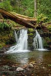 Beautiful waterfall on Cascade Creek on Orcas Island