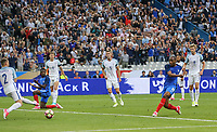Djibril Sidibe (Monaco) of France scores a goal to make it 2 1 during the International Friendly match between France and England at Stade de France, Paris, France on 13 June 2017. Photo by David Horn/PRiME Media Images.