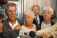 David, Margaret e Mary, irmãs de Dorothy comemoram a condenação de Tato.<br /> <br /> Julgamento de Amair Feijoli da Cunha, o Tato, , acusado de ser o intermediário no assassinato de Dorothy Stang, morta em 12 de fevereiro de 2005 por Clodoaldo Carlos Batista conhecido como Eduardo e Raifran das Neves Sales o Fogoió, é condenado a 18 anos em regime fechado.Belém, Pará, Brasil.Foto Paulo Santos/Interfoto<br /> 26/04/2006