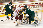 Nick Bruneteau (Vermont - 4), Brian Gibbons (BC - 17), Rob Madore (Vermont - 29), Drew MacKenzie (Vermont - 2) - The Boston College Eagles defeated the visiting University of Vermont Catamounts 6-0 on Sunday, November 28, 2010, at Conte Forum in Chestnut Hill, Massachusetts.