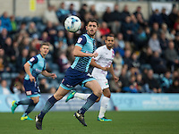 Dan Rowe of Wycombe Wanderers during the Sky Bet League 2 match between Wycombe Wanderers and Barnet at Adams Park, High Wycombe, England on 22 October 2016. Photo by Andy Rowland.