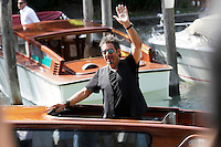 Al Pacino arriva alla darsena<br /> Venezia 30/08/2014. Palazzo Del Cinama, Mostra Internazionale d'arte del Cinema di Venezia 2014. Venice Film Festival 2014<br /> Photo Mark Cape/Insidefoto