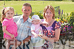 BONNY BABY: Ciara Flaherty, Keel, Lixnaw, winner of the Bonny Baby competition over two at the Cailin Alainn Festival in Lixnaw on Sunday, pictured with her mother Noreen, Dad Joe and sister Amy..