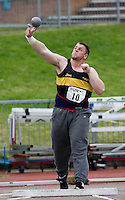 17 JUL 2008 - LOUGHBOROUGH, UK - Kieran Kelly - Shot -  Loughborough European Athletics Permit Meeting. (PHOTO (C) NIGEL FARROW)