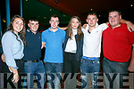 "Enjoying  An Riocht fundraising concert with ""The Kilkenny's at the River Island Hotel Castleisland on Saturday were Aisling McCarthy, Reece Nelligan, Freddie Browne, Dannie Reidy, Mike Cremins, Sean Kelliher"
