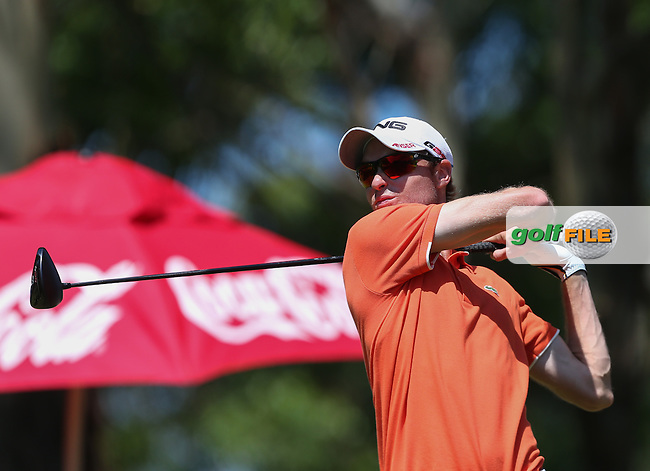 Rhys Davies (WAL) added just the one shot to his R2 total (-8) during Round Three of The Africa Open 2014 at the East London Golf Club, Eastern Cape, South Africa. Picture:  David Lloyd / www.golffile.ie