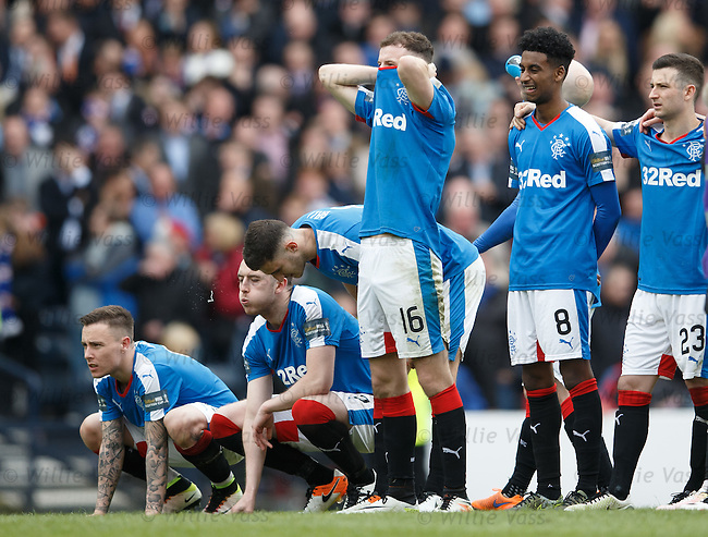 Andy Halliday is a bag of nerves during the sudden death penalty shoot-out