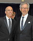 Steven Spielberg and Jeffrey Katzenberg arrive for the 2013 White House Correspondents Association Annual Dinner at the Washington Hilton Hotel on Saturday, April 27, 2013..Credit: Ron Sachs / CNP.(RESTRICTION: NO New York or New Jersey Newspapers or newspapers within a 75 mile radius of New York City)