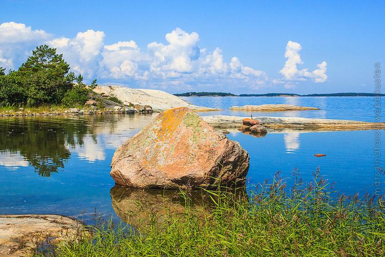 Sten vid Stor-Tistronskär i Stockholms skärgård/ Stockholm archipelago Sweden