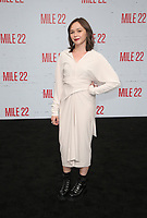 9 August 2018-  Westwood, California - Emily Skeggs. Premiere Of STX Films' &quot;Mile 22&quot; held at The Regency Village Theatre. <br /> CAP/MPIFS<br /> &copy;MPIFS/Capital Pictures