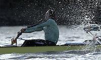 PUTNEY, LONDON, ENGLAND, 05.03.2006, CUBC, Cambridge stroke Kip McDaniel  Pre 2006 Boat Race Fixtures,.   © Peter Spurrier/Intersport-images.com..[Mandatory Credit Peter Spurrier/ Intersport Images] Varsity Boat Race, Rowing Course: River Thames, Championship course, Putney to Mortlake 4.25 Miles