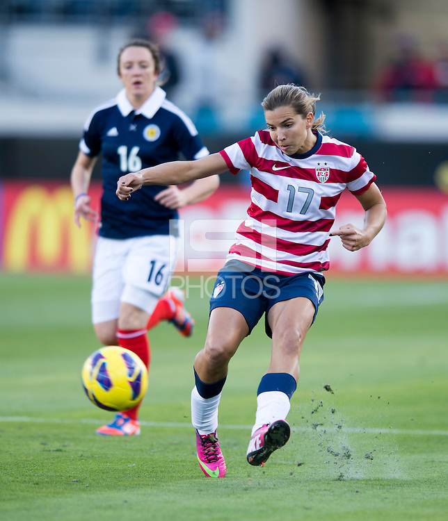 Tobin Heath.  The USWNT defeated Scotland, 4-1, during a friendly at EverBank Field in Jacksonville, Florida.