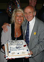 Sammy McCarthy, former British Featherweight Champion between 1954 and 1955, pictured at a celebration for his 80th Birthday with Barbara O'Sullivan