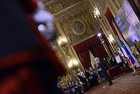 Roma, 7 Marzo 2015<br /> Quirinale.<br /> Sergio Mattarella.<br /> Giornata internazionale dela donna, <br /> celebrazione dedicata al tema &quot;Donne per la Terra&quot;.<br /> Nalla foto il Presidente della Repubblica Sergio Mattarella.