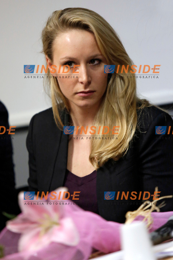 Marion Mar&egrave;chal-Le Pen<br /> Roma 15-03-2016 Convegno 'L'Europa delle Mille Patrie'.<br /> Convention 'Europe of the thousand Homelands'<br /> Photo Samantha Zucchi Insidefoto