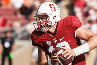 Stanford, CA - November 5, 2016: Keller Chryst during  the Stanford vs Oregon State game at Stanford Stadium Saturday. <br /> <br /> Stanford won 26-15.