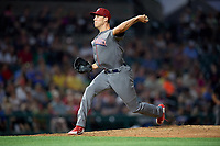 Lehigh Valley IronPigs relief pitcher Tom Windle (27) delivers a pitch during a game against the Rochester Red Wings on June 29, 2018 at Frontier Field in Rochester, New York.  Lehigh Valley defeated Rochester 2-1.  (Mike Janes/Four Seam Images)
