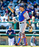3 March 2010: New York Mets' catcher Josh Thole calls out signals during a Grapefruit League game against the Atlanta Braves at Champion Stadium in the ESPN Wide World of Sports Complex in Orlando, Florida. The Braves defeated the Mets 9-5 in the Spring Training matchup. Mandatory Credit: Ed Wolfstein Photo