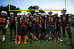 The Northwest Cabarrus Trojans prepare to take the field for their varsity football game against the East Rowan Mustangs at Trojan Stadium September 22, 2017, in Concord, North Carolina.  The Trojans defeated the Mustangs 48-6.  (Brian Westerholt/Sports On Film)